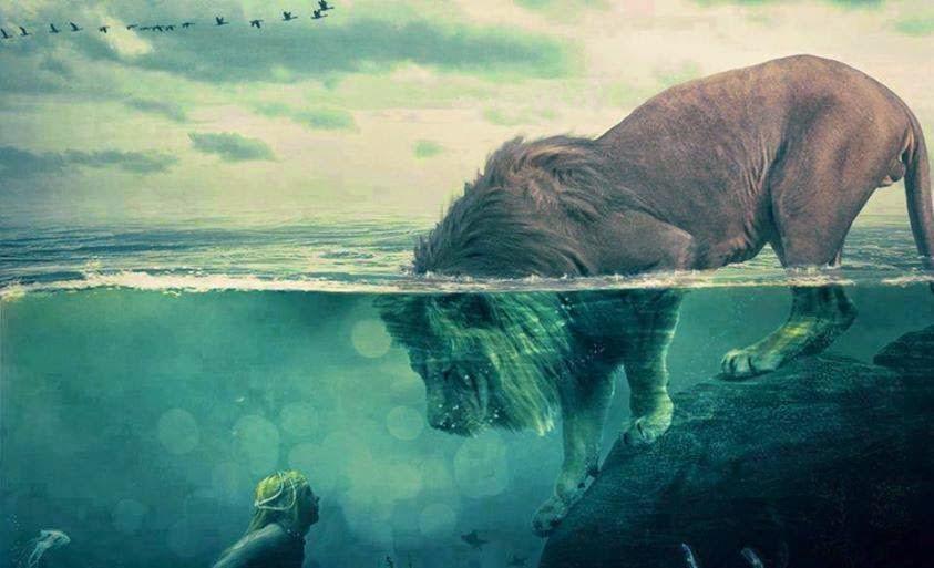León acuático