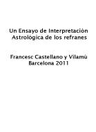 UN ENSAYO DE INTERPRETACIÓN ASTROLÓGICA DE LOS REFRANES
