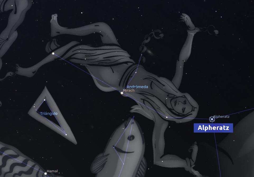 🌟 Estrella Fija Alpheratz (AFORTUNADA)